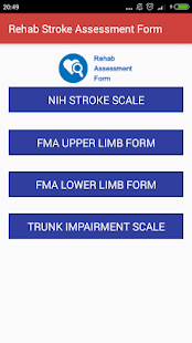 Rehab Assessment Assistant screenshot for Android