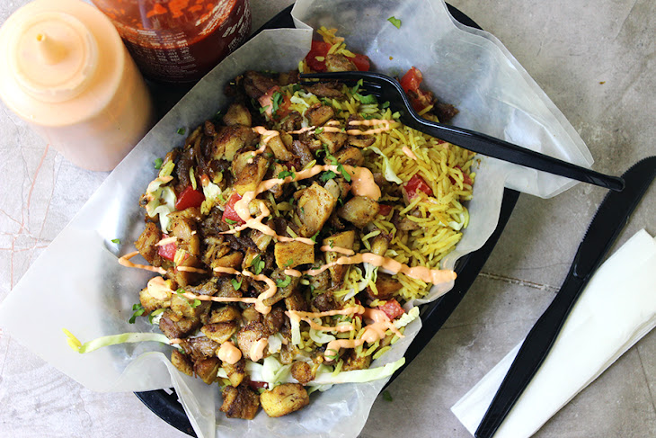 Halal Cart-Style Chicken And Rice With White Sauce Recipes ...