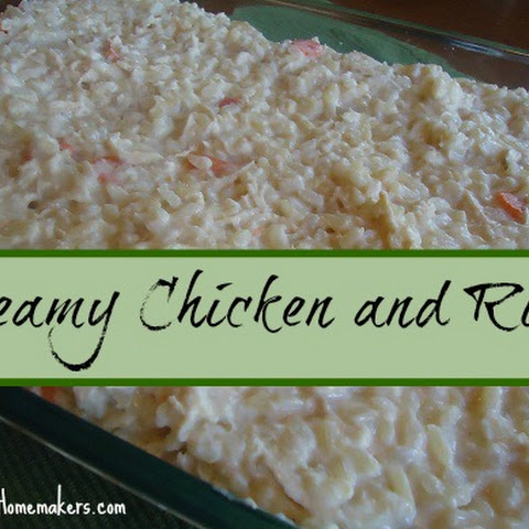 Creamy Chicken and Rice Casserole (with no cream soups!)