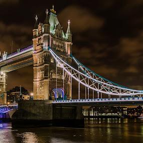 Tower Bridge by Henk Smit - Buildings & Architecture Bridges & Suspended Structures ( londen, tower bridge, long exposure, light, evening,  )