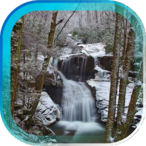 Download Winter Waterfall livewallpaper For PC Windows and Mac