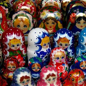 Wooden dools by Jakub Juszyński - Artistic Objects Other Objects ( russian, ukraine, wood, souvenir, paint, dool )