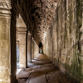 Back in Time by Steve Badger - Buildings & Architecture Architectural Detail ( ta prohm, angkor, travel, cambodia, siem reap )