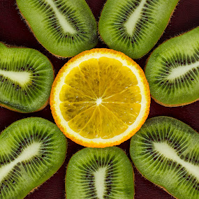 Abstract by Darius Apanavicius - Food & Drink Fruits & Vegetables ( orange, pattern, kiwi, green, fruits, close up )