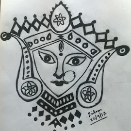 Maa by Pritam Bhowmick - Drawing All Drawing