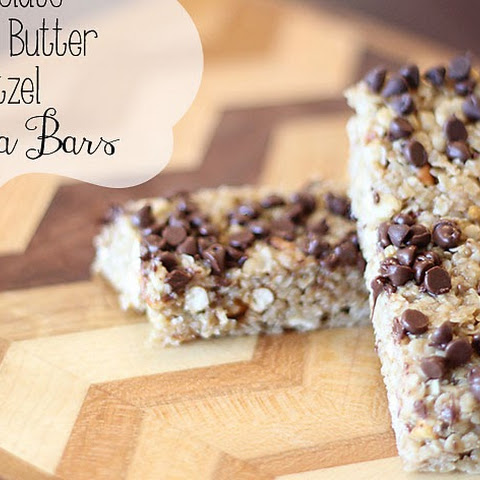 Chocolate, Peanut Butter, Pretzel Granola Bars