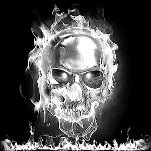 White Fire Black Skull