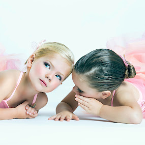 Besties by Ina Pandora - Babies & Children Child Portraits ( girls, whisper, best friends, children, portraits,  )