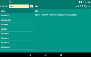 Screenshot of Spanish Finnish Dictionary Fr