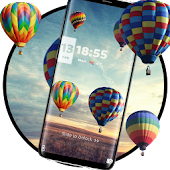 App Colorful balloon lock theme APK for Windows Phone
