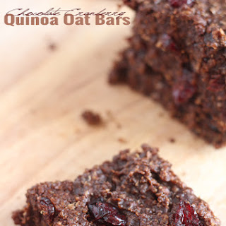 Chocolate Cranberry Quinoa Oat Bars