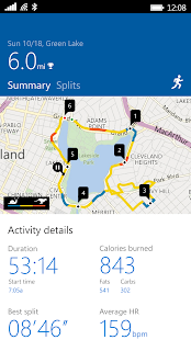 Microsoft Band Screenshot