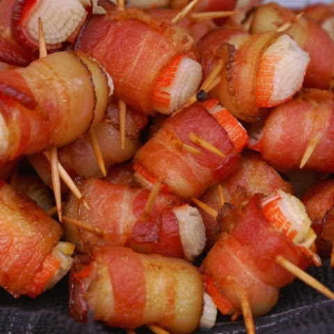 Bacon Wrapped Crab Appetizers
