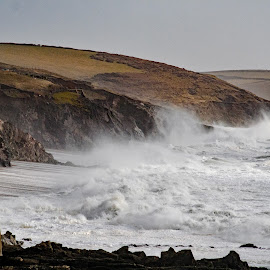 Wave Watching by Steve Rowe - Landscapes Weather