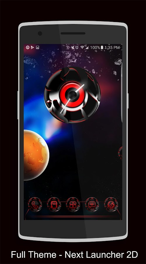 Twister Red Iconpack &for NEXT Screenshot 4