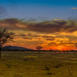 Namibia sunset by Lourens Lee Wildlife Photography - Landscapes Sunsets & Sunrises ( dawn, sunset, sunrise, landscape, dusk )