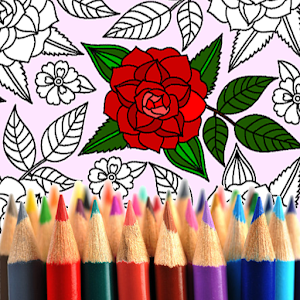 Adult Coloring: Flowers For PC