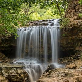 SUMMER FALLS by Dana Johnson - Landscapes Waterscapes ( falls, waterfalls, waterscape, cascade, landscape )