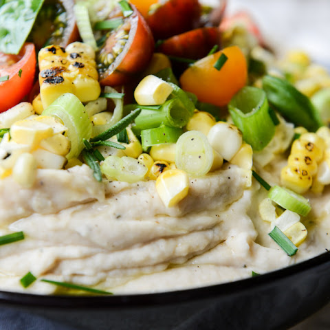 Summer Garden Whipped White Bean Dip