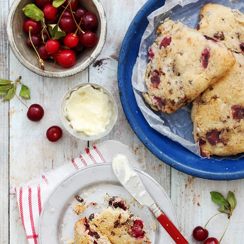 Sour Cherry Scones