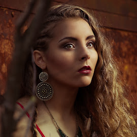 Mystical  by Kelly Horn - People Fashion ( makeup, outdoor, big hair, jewelry, crane, boho )