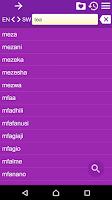 Screenshot of English Swahili Dictionary Fr