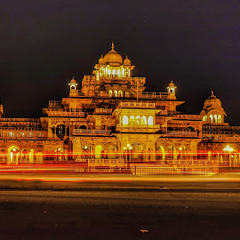 A night view of Ramnivas Palace at Jaipur India  by Harish Chopra - Buildings & Architecture Statues & Monuments ( architecture jaipur india history long exposure monuments )