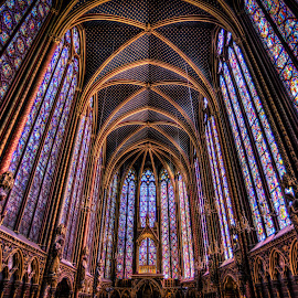 Glass of St. Chapelle by Tom Baker - Buildings & Architecture Places of Worship ( paris, church, stained glass, st chapelle )