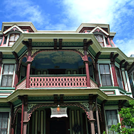 by Judy Florio - Buildings & Architecture Homes ( bed and breakfast, sky, jersey shore, victorian, cape may, nj )
