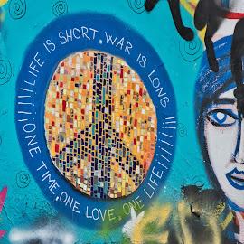All You Need is Love by Randi Hodson - City,  Street & Park  Neighborhoods ( street art, graffiti, colors,  )