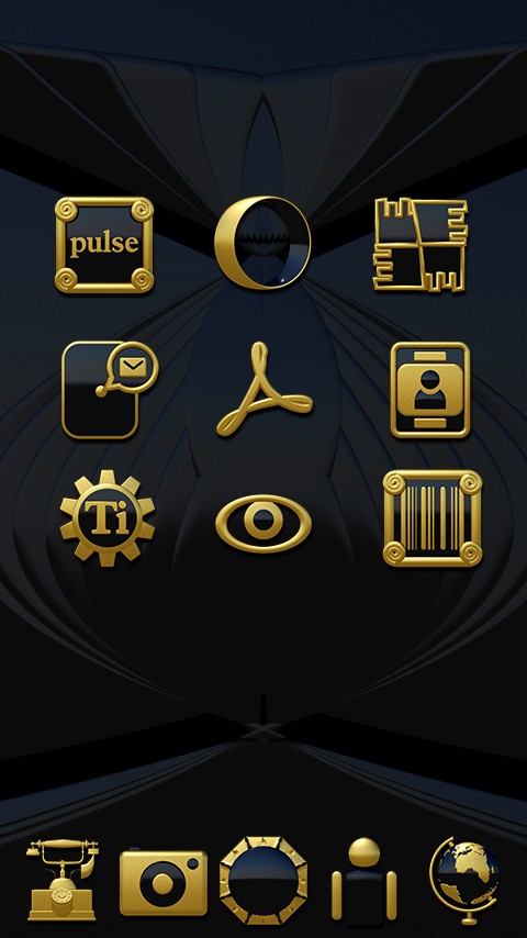 Babylon gold blue ICON PACK Screenshot 4