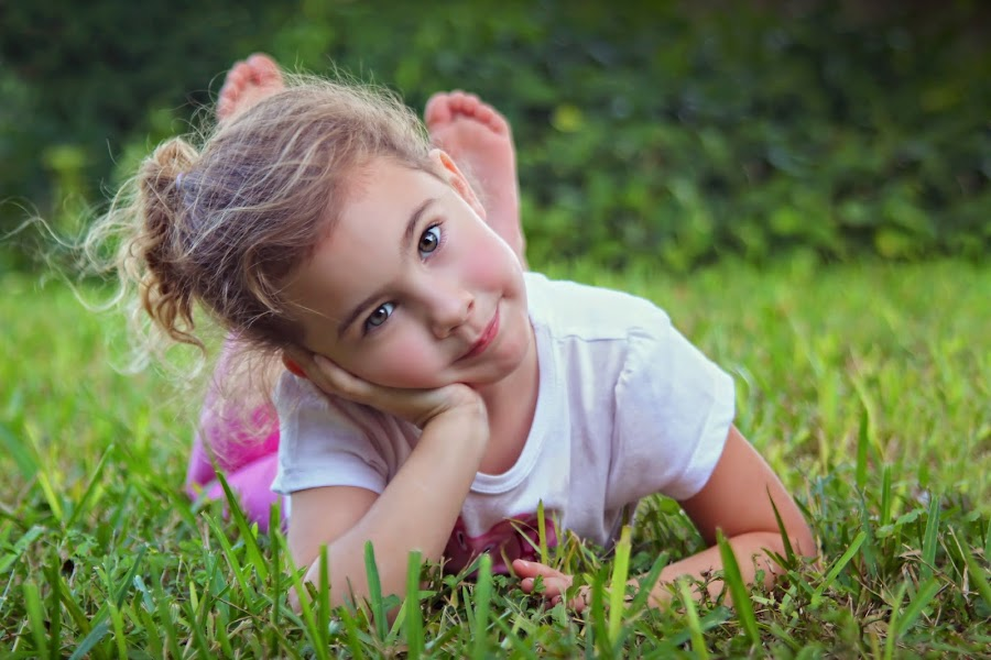 by Katie McKinney - Babies & Children Child Portraits ( child, pose, laying down, girl, nature, grass, children,  )