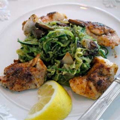 Grouper Cheeks with Basil Pesto