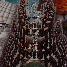 The World Inside by Rick Eskridge - Illustration Sci Fi & Fantasy ( fantasy, jwildfire, mb3d, fractal, twisted brush )