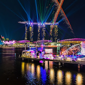 Singapore Merlion 40th Birthday Light Shows by Nicholas Leong - City,  Street & Park  Skylines