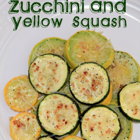 Oven Roasted Zucchini and Yellow Squash