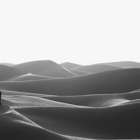 A walk in the Desert by Adam dela Pedra - Landscapes Deserts ( desert, sunset, silhouette, people, walk )