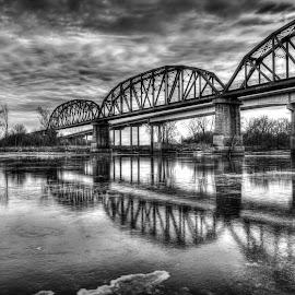 RiverFlow by Patricia  Yocum - Black & White Landscapes