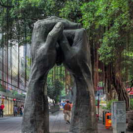 Holding hands by Vibeke Friis - Buildings & Architecture Statues & Monuments ( hands sculpture,  )