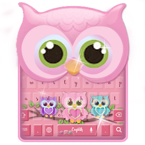 Download cute owl keyboard to beautify your Samsung! APK Icon