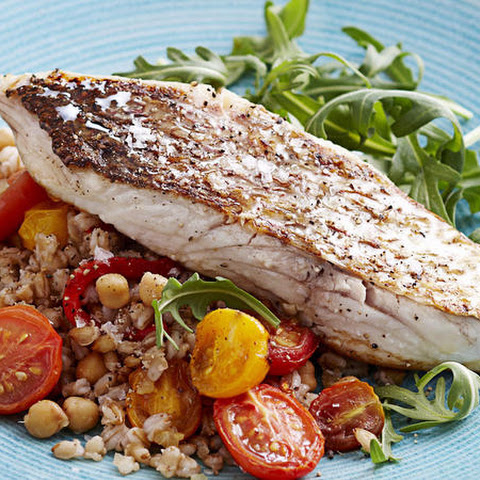 Pan-Seared Snapper with Barley Salad