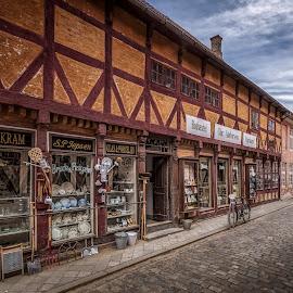 Den Gamle By by Ole Steffensen - City,  Street & Park  Street Scenes ( den gamle by, shops, denmark, street scene, museum, aarhus )