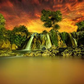 Toroan waterfall by Mc Pujiyanta - Landscapes Sunsets & Sunrises ( sunset, seascape, sunrise, landscapes, landscape )