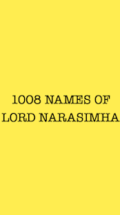 Lord Narsimha 1008 names - screenshot