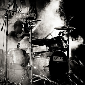 Smokey Drummer by Pande Wiguna - People Musicians & Entertainers