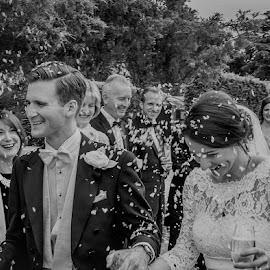 Confetti by Graham Davey - Wedding Bride & Groom ( confetti, happy, wedding, bride, groom )