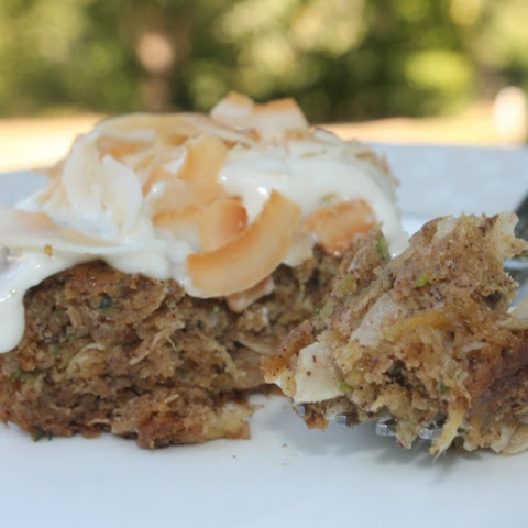 Tropical Zucchini Cake with Pineapple Cream Cheese Frosting