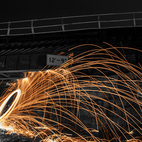 Color Splashed Steel Wool by Aaron Rigsby - Abstract Light Painting ( steel wool )