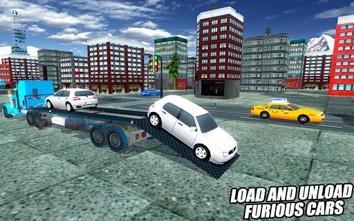 Car Transport Trailer Truck - screenshot