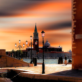 Sunset over Venice by Pieter Arnolli - Buildings & Architecture Public & Historical ( san giorgio maggiore, europe, sunset, venice, italy )